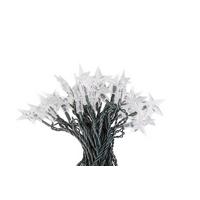 Vánoční LED osvětlení 50 diod, hvězdy studená bílá