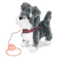 Interaktivní štěně s vodítkem hnědá