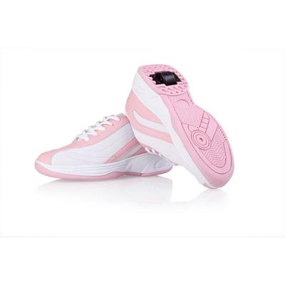 Jezdící boty bílo-růžové